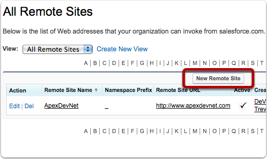 Add a New Remote Site