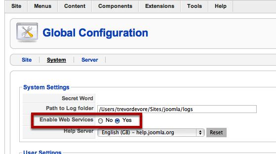 Enable Web Services