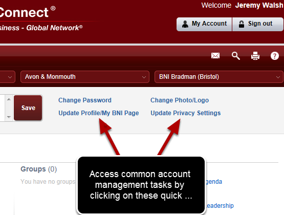 Quick Access To Profile Management!