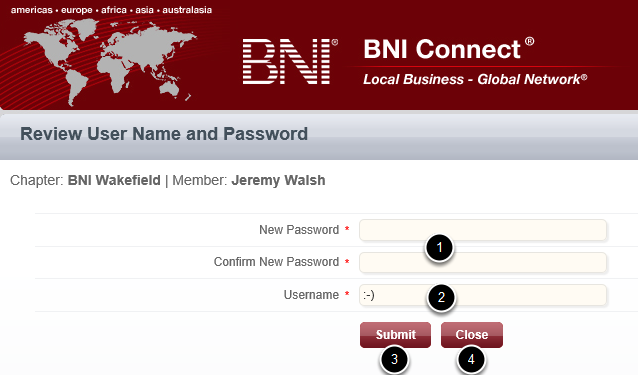 Step 4 - Create a New Password (and username, if desired)