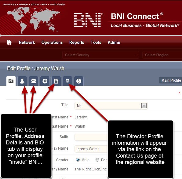Step 2 - Click on the Director Profile Tab