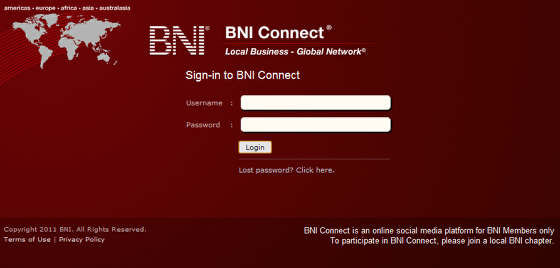 Login with your new credentials!