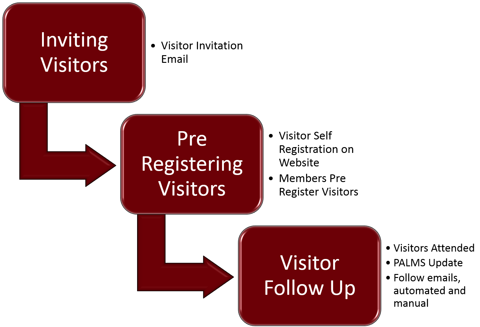 Overview of the Visitor Process BNI Connect Support How Can We