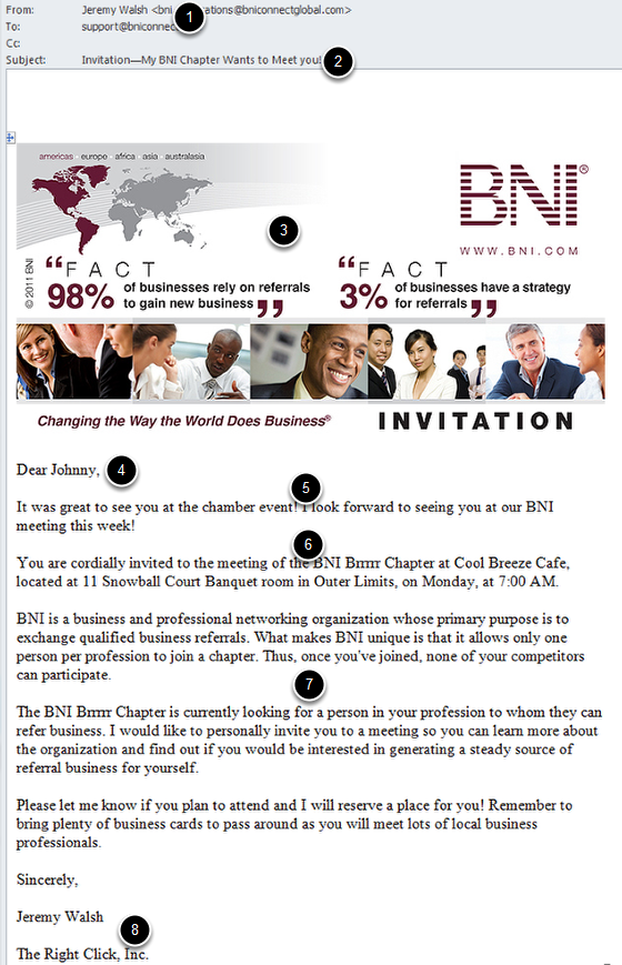 Create Email - Email a Visitor Invitation – BNI Connect ...