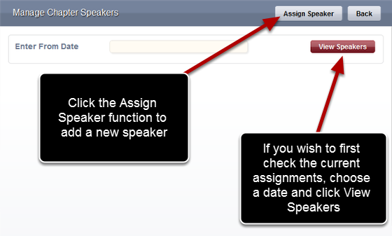 Click on Assign Speaker