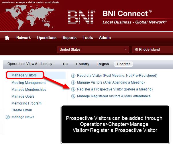 Register a Prospective Visitor