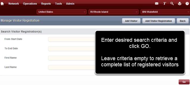 Enter Search Critera and Click GO