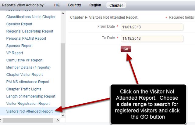 Choose Your Report Parameters