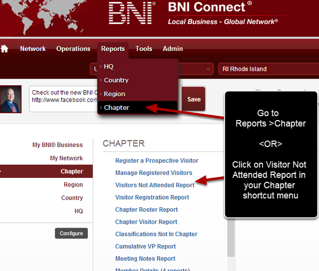 Navigate to the Chapter Reports