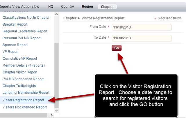 Choose Your Report Parameters