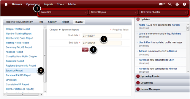 Verify Your Chapter Selection and Choose Your Report