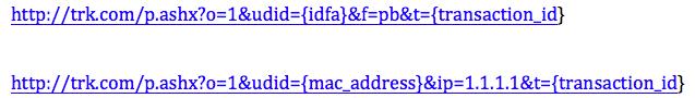 Postback URL Parameters