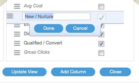 Customizing your Reporting Columns