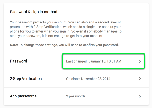 Then click on Password
