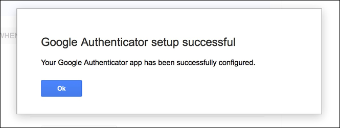 You should see this message, on your computer, if the setup was successful
