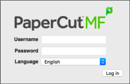 Log in to Your PaperCut Account