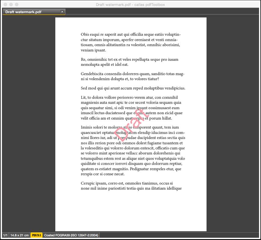 The output PDF file