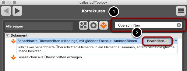 pdfToolbox Korrekturen