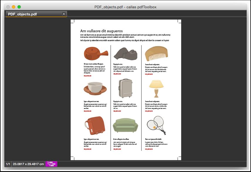 Angehängte PDF in pdfToolbox öffnen (Datei > Öffnen)