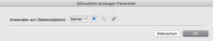 Parameter für Silhouetten, die auf existierenden Vektor-Pfaden basieren