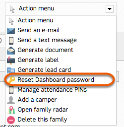Resetting Dashboard Password