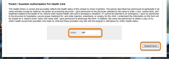 Parent / Guardian Authorization For Health Care