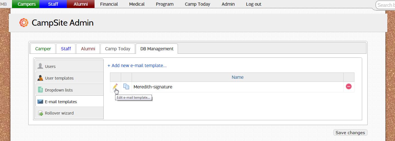 e mail templates e mail signatures campsite support
