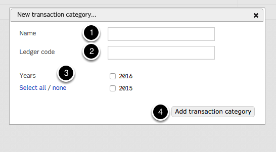 "Click ""Add new transaction categories..."""
