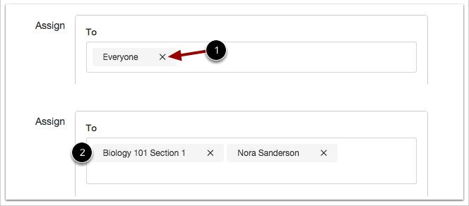 Asignar a sección o usuario