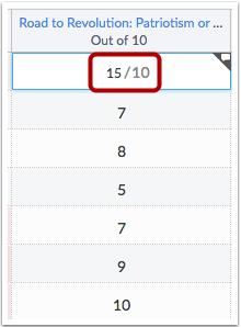 Agregar puntos extras a una tarea existente