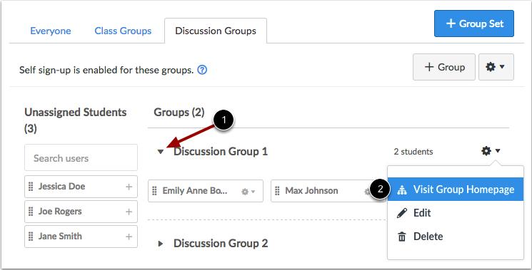 Ver grupos