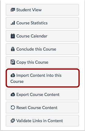 Importar contenido al curso