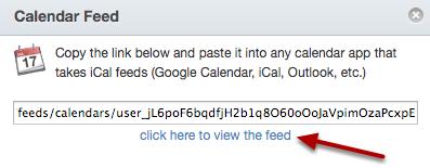 Kopieer Kalendar Feed Link