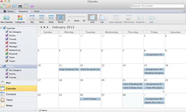 Bekijk Canvas Kalendar