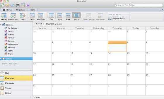 Bekijk Outlook Kalendar