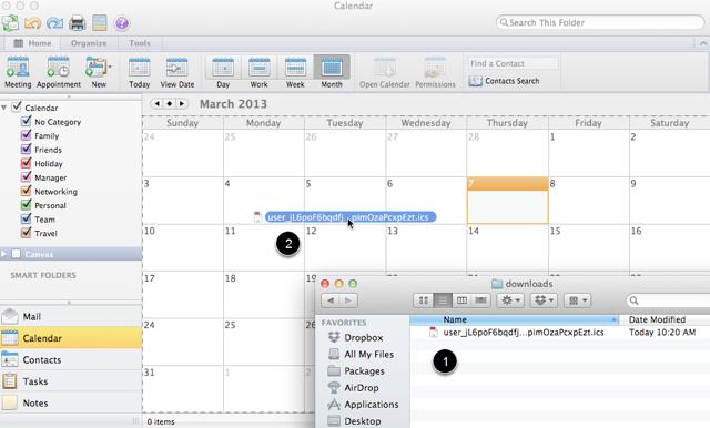 Sleep en Laat .ics Bestanden Vallen op de Outlook Kalendar