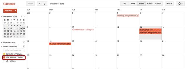 Bekijk Ingeschreven Kalendar Feed