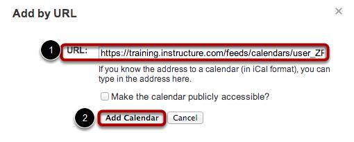 Toevoegen Kalendar via URL