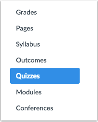 How do I access Quizzes?
