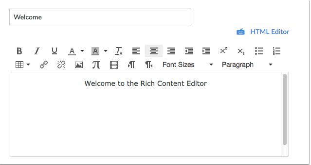 Abrir el Editor de contenido enriquecido