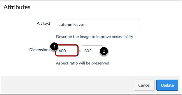 Cambiar atributos de las dimensiones de la imagen
