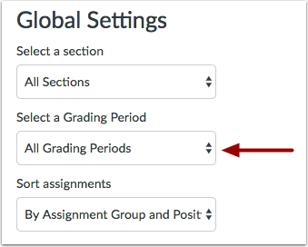 Select Grading Period