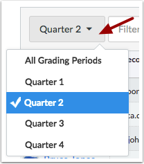 View Grading Periods