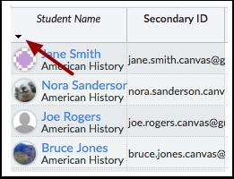 Sort Student Information