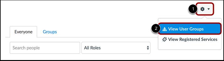 View User Groups in Settings Menu