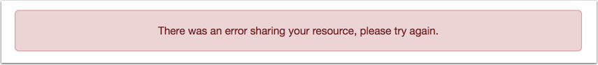Resource Unavailable Message