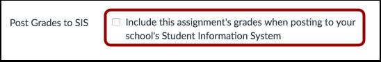 Post Grades to SIS