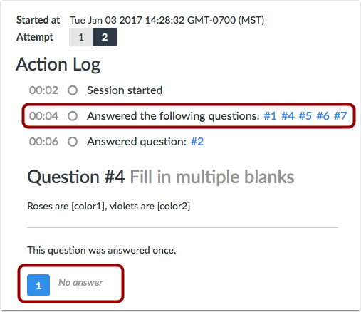 How do I view a quiz log for a student?: Canvas Training