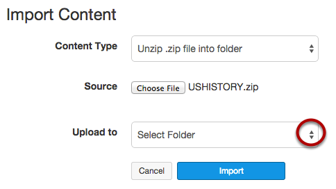 Kies upload-bestemming