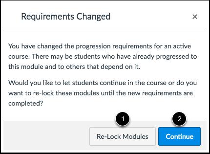 Re-Lock Module